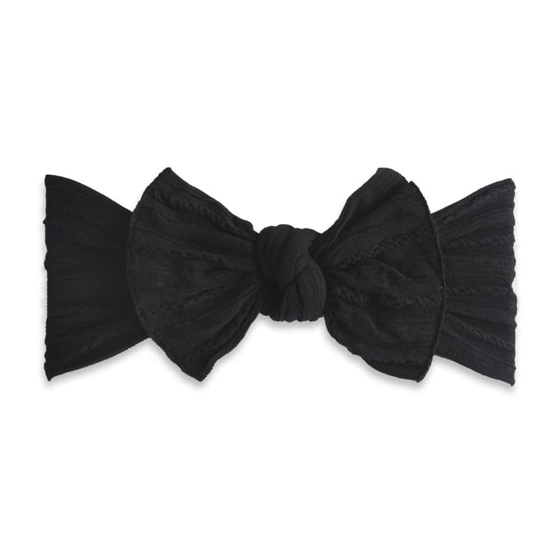 Baby Bling Bows - Cable Knit Knot - Black