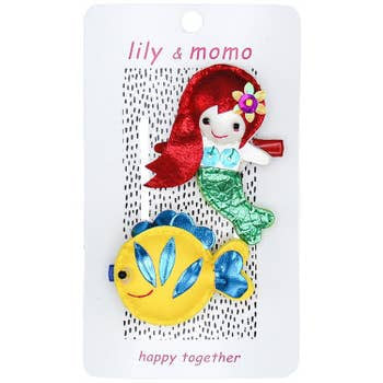 Lily and Momo Hair Clips - Mermaid and Fishie