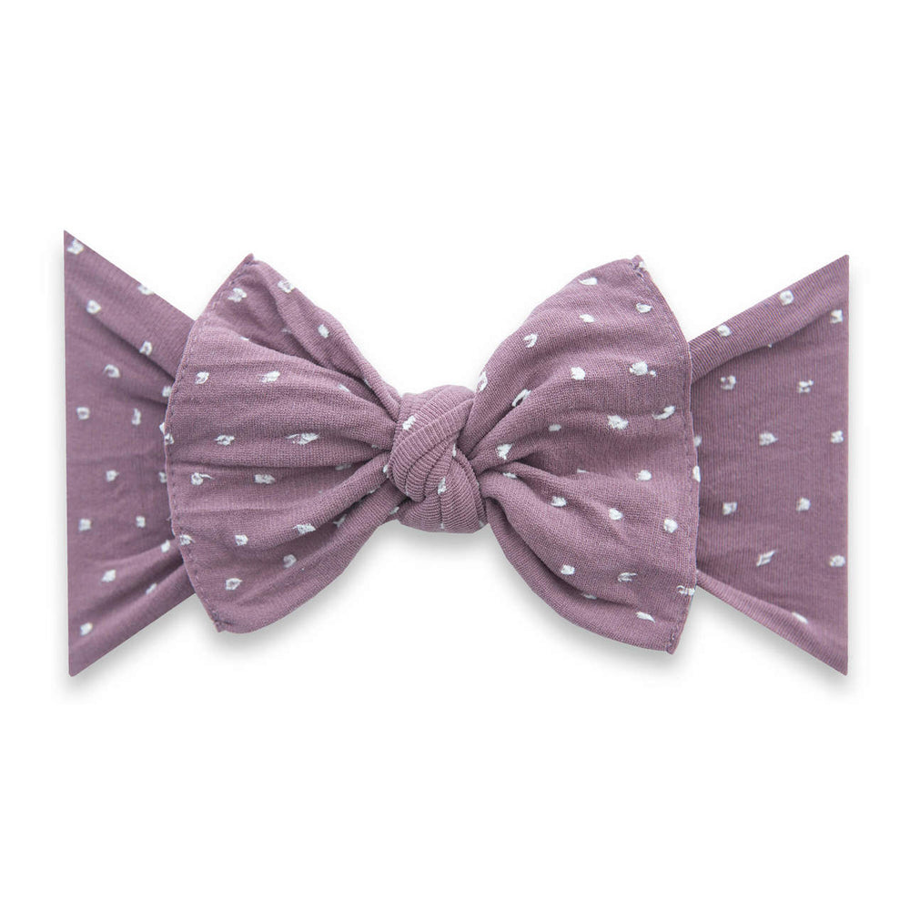 "Baby Bling Bows - Patterned Knot ""Shabby Dot"""