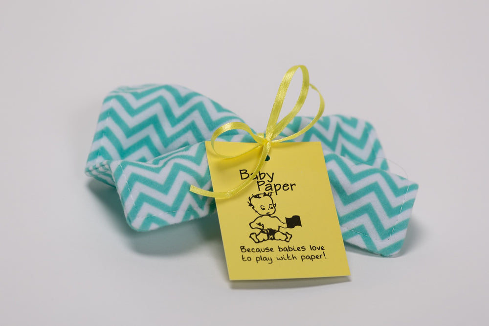 Baby Paper - Teal Chevron