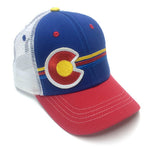 YoColorado - Kids Fit - Candy Stripes Trucker Flag Hat