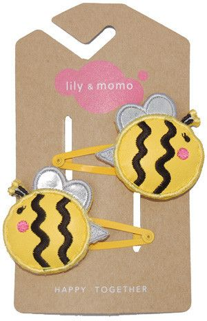 Lily and Momo Hair Clips - Busy Bee - Yellow and Black