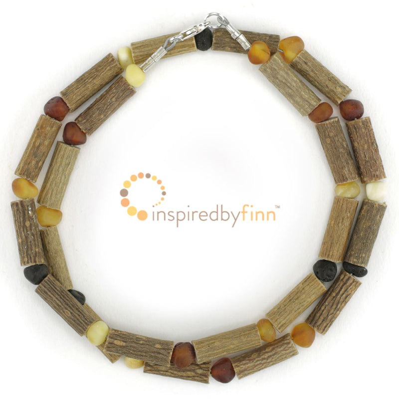 Child Baltic Amber and Hazelwood Necklace