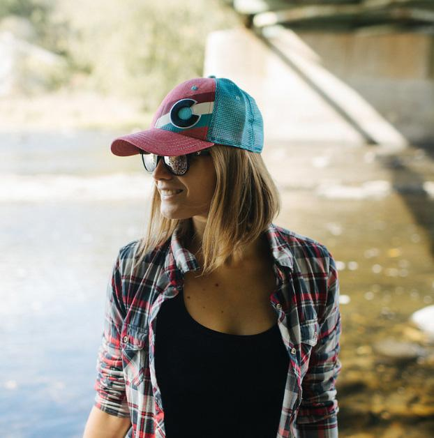 5913cd39 Colorado Flag Hat - Incline Trucker - Heather Red/Blue - Adult ...