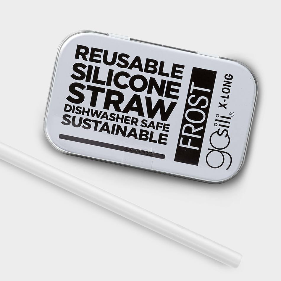 GoSili - Frost - Extra Long Straw Tin