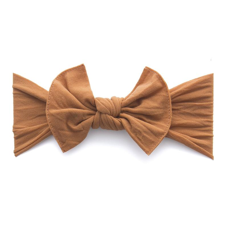 Baby Bling Bows - Classic Knot - Camel
