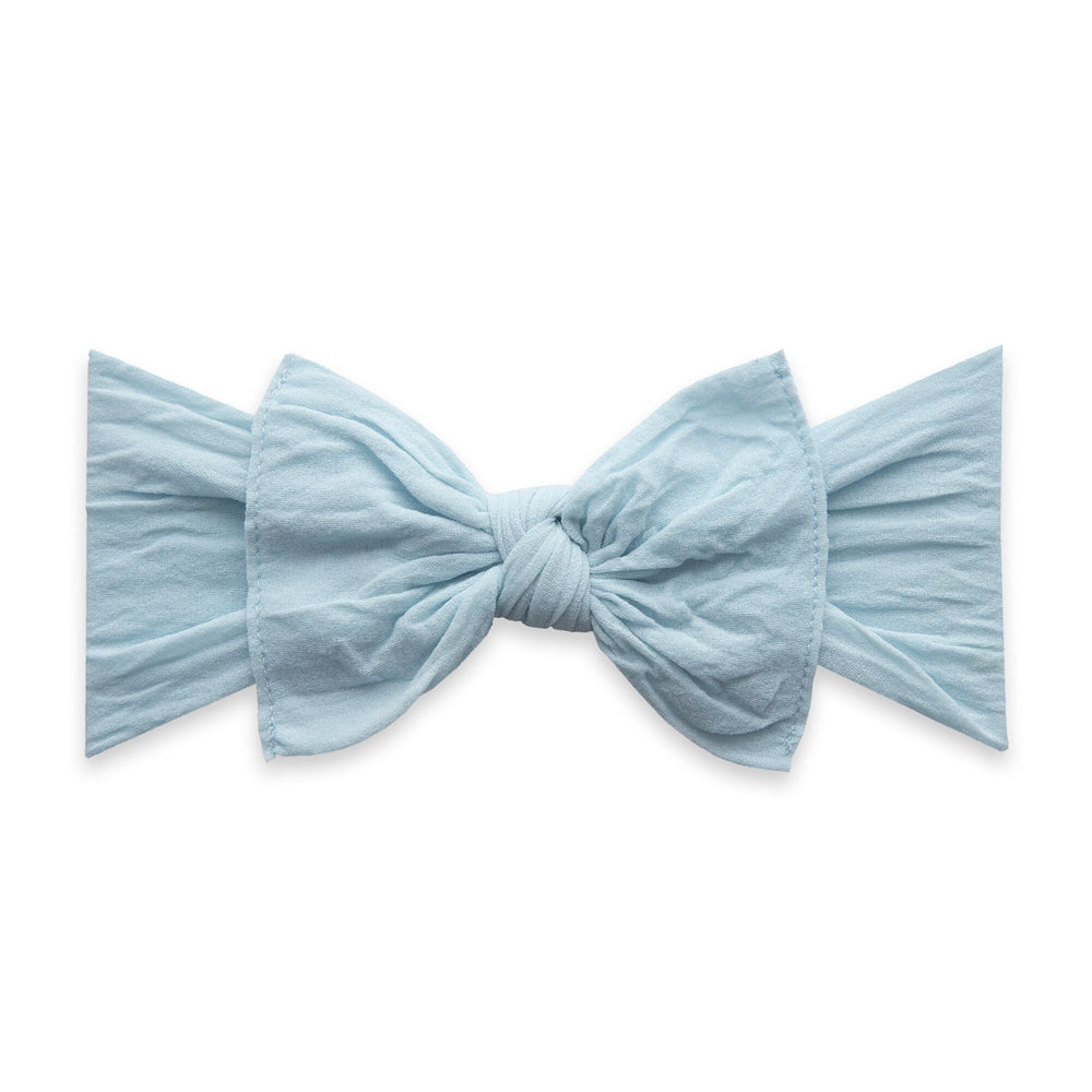 Baby Bling Bows - Classic Knot - Chambray