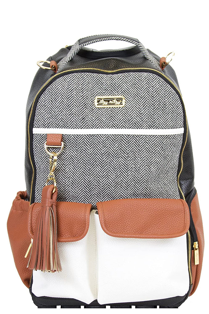 Itzy Ritzy - Boss Diaper Bag Backpack - Coffee & Cream