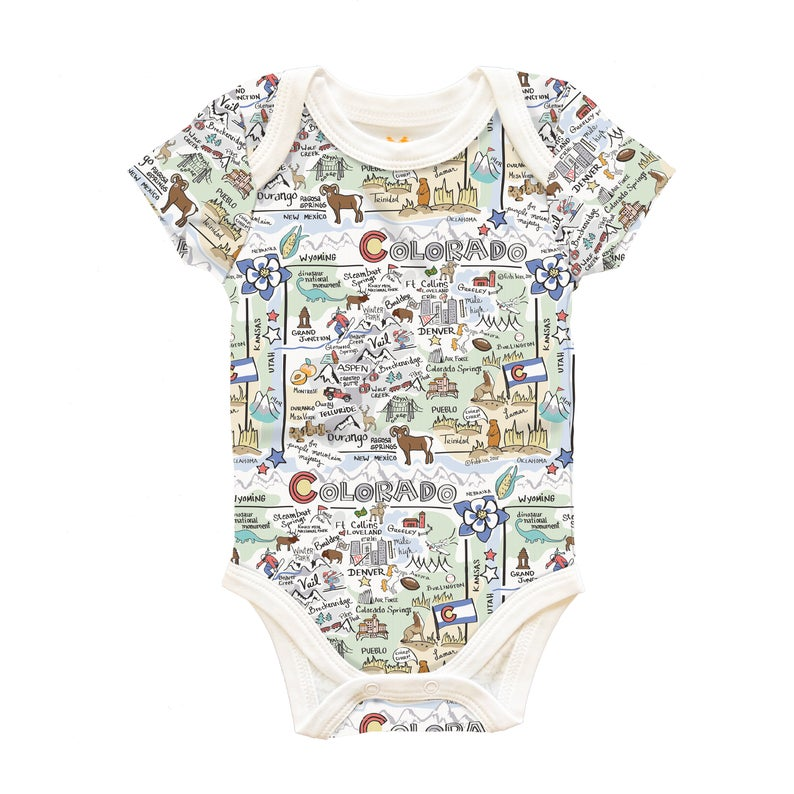 Fish Kiss - Colorado Map Onesie