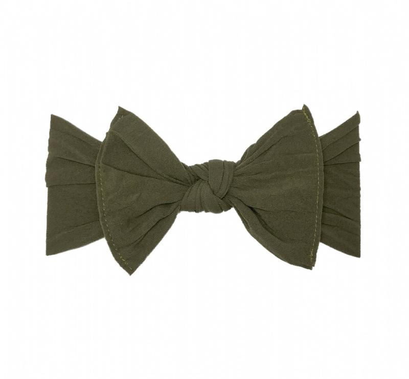 Baby Bling Bows - Classic Knot - Army Green