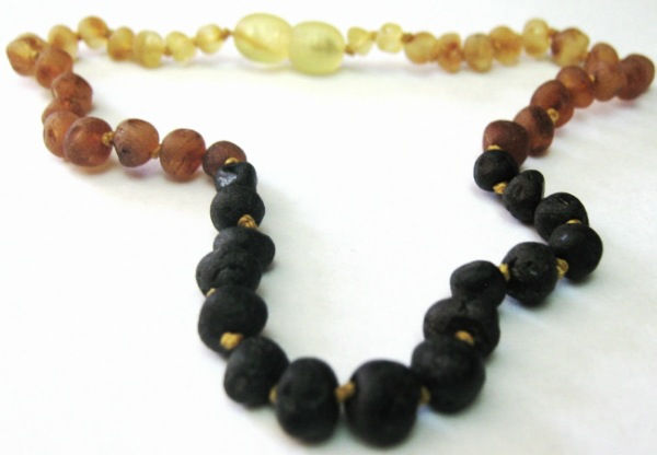 Child Baltic Amber Necklace - Tri-Color