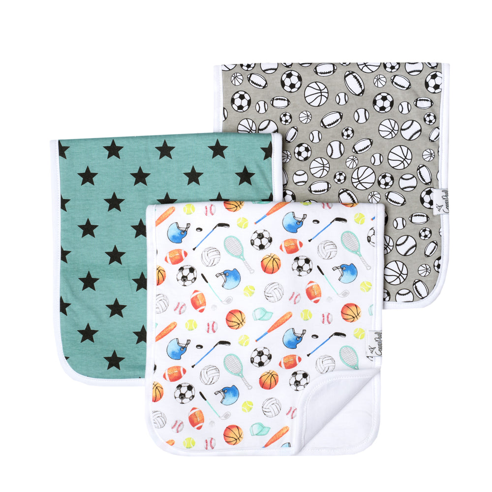 Copper Pearl Burp Cloth - 3 pack - Varsity