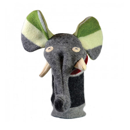 Cate and Levi - Wool Puppet - Elephant