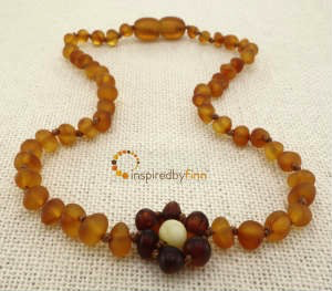 Child Baltic Amber Necklace - Brilliant Flower