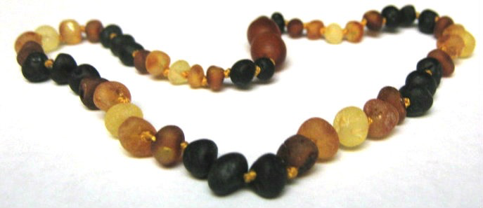 Child Baltic Amber Necklace - Multi