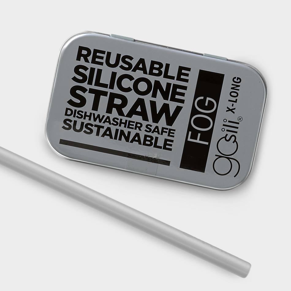 GoSili - Fog - Extra Long Straw Tin
