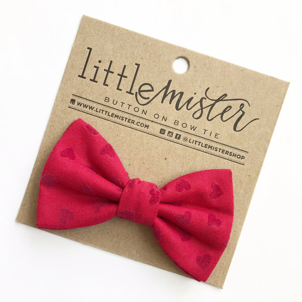 Little Mr. Bow Tie - Red Hearts