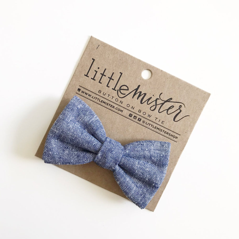 Little Mr. Bow Tie - Navy Chambray