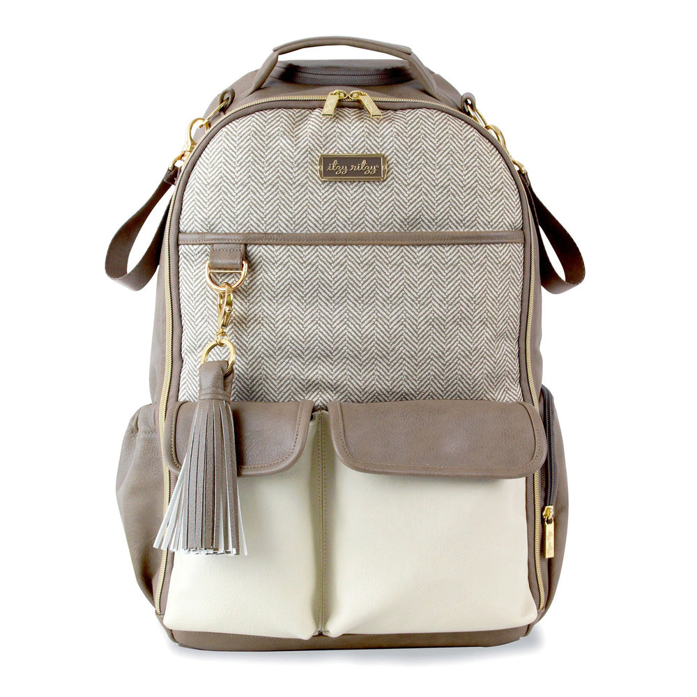 Itzy Ritzy - Boss Diaper Bag Backpack - Vanilla Latte