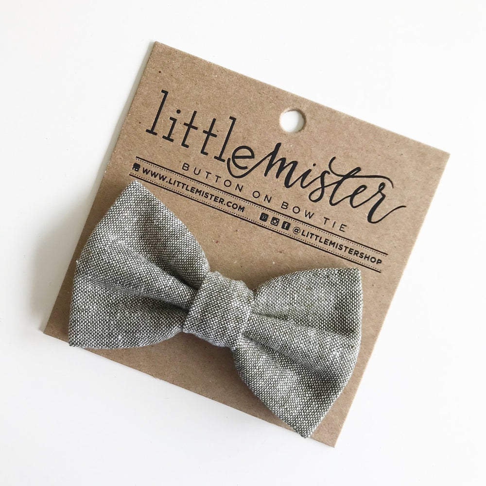Little Mr. Bow Tie - Olive