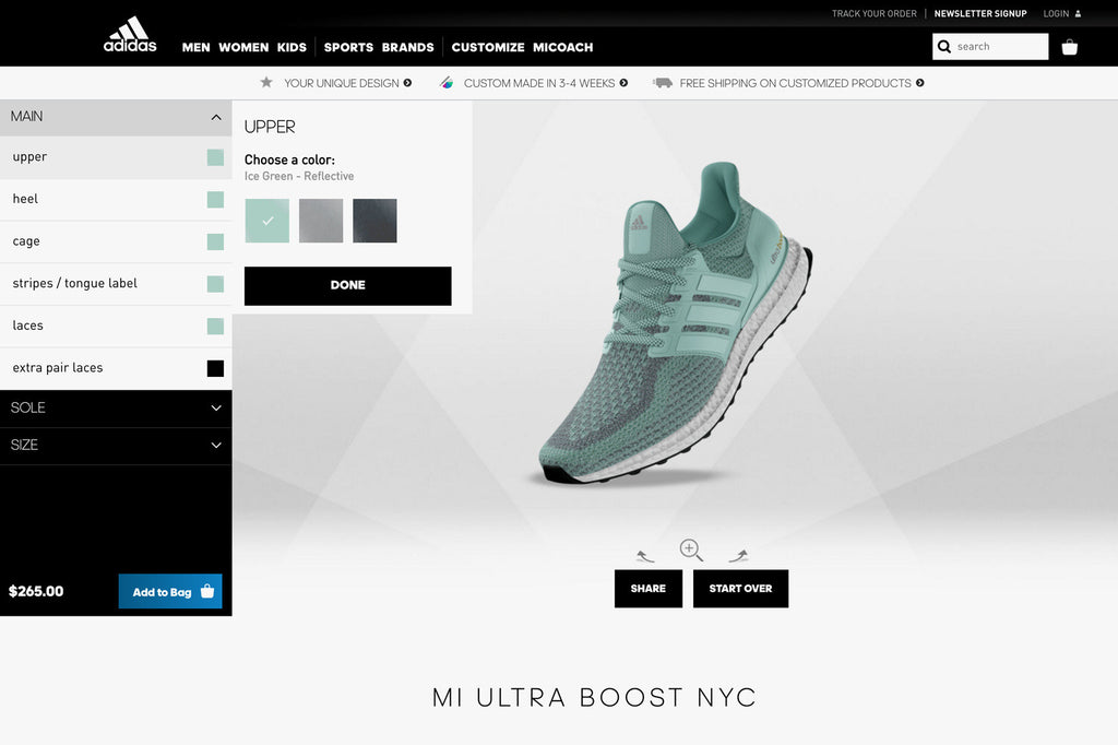 Adidas Is Adding the UltraBOOST To Their Mi Adidas Customization Service