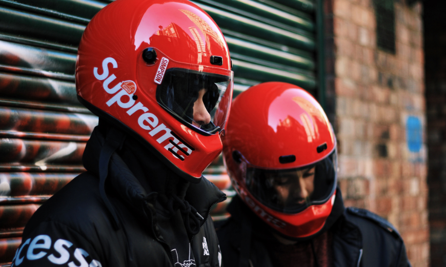 Supreme & Simpson Collaborate On Motorcycle Helmet