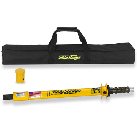 211301 Slide Sledge 14 Pound 30″ Multi-Head Hammer with 1 Pin Driver