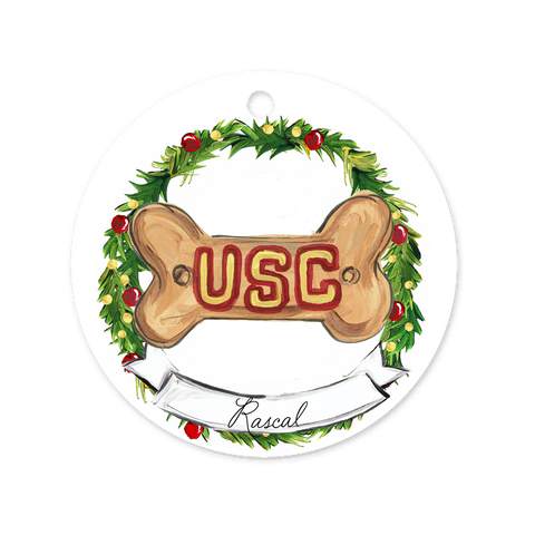 USC Dog Ornament