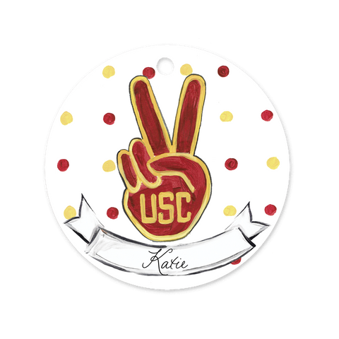 USC Fight On Fingers Ornament