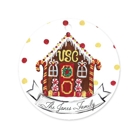 USC Gingerbread House Ornament