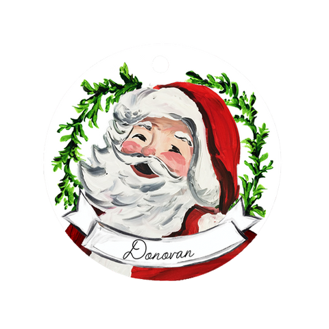 Santa Face Ornament
