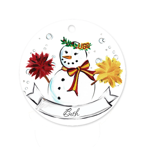 USC Girl Snowman Ornament