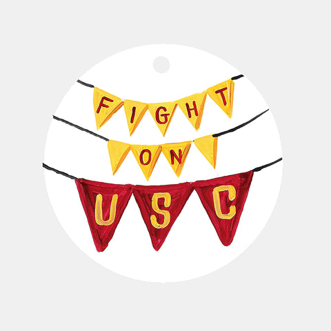 USC Pennant Banner Ornament