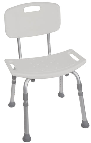 DRIVE ALUMINUM BATH SEAT WITH BACK