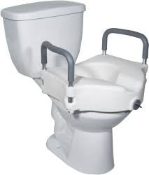DRIVE TOILET SEAT RISER W/ REMOVABLE ARMS, 5""