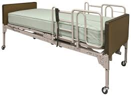 Full-Electric Bed with 1633- Rolled Foam Mattress and FDA Half or Full Rails.