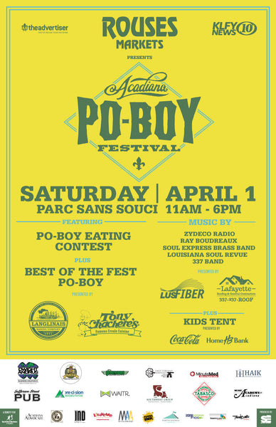 2nd Annual Acadiana Poboy Festival Poster