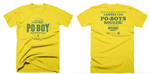 2nd Annual Acadiana Poboy Festival T-shirt