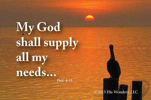God shall Supply Sunset Magnet