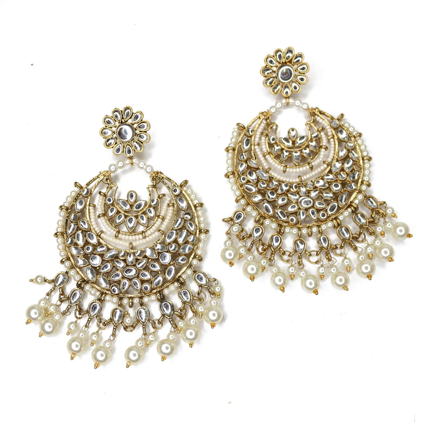 Jaanvi Oversized Chaandbali Earrings