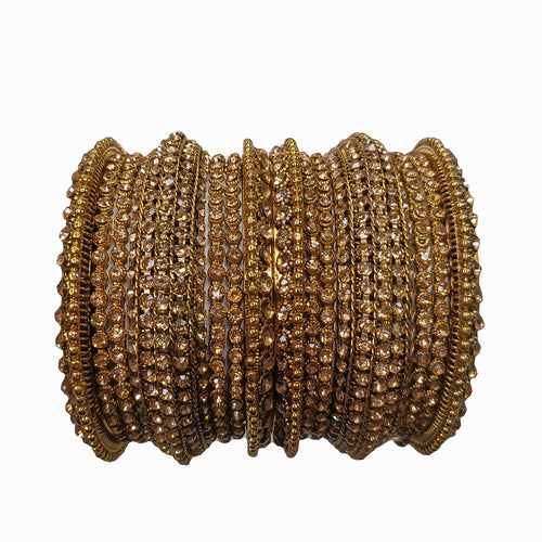 Antique Bangle Stack - Golden