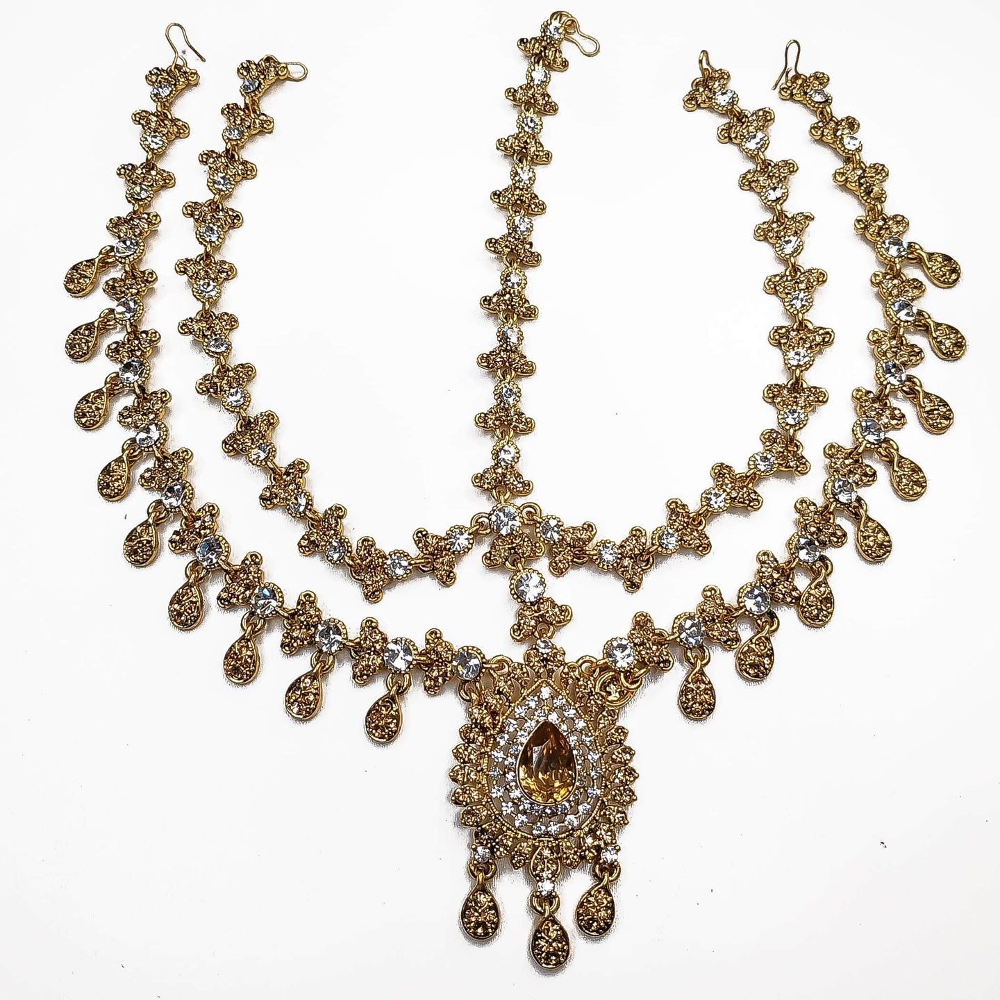 Aruna Multi strand head chain - Golden