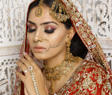 Load image into Gallery viewer, Neelam Bridal Necklace set - Golden