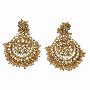 Aujla Kundan Chandbali Earrings