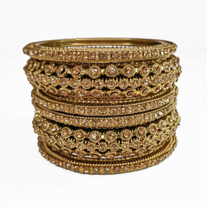 Antique Gold Bangle Stack