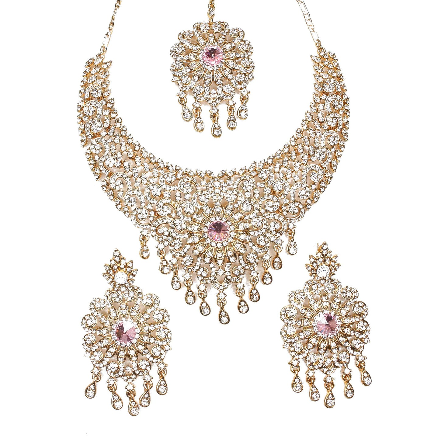 Rosa Necklace set - Pink