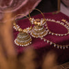 Manal Jhumka Hoops with Ear chains