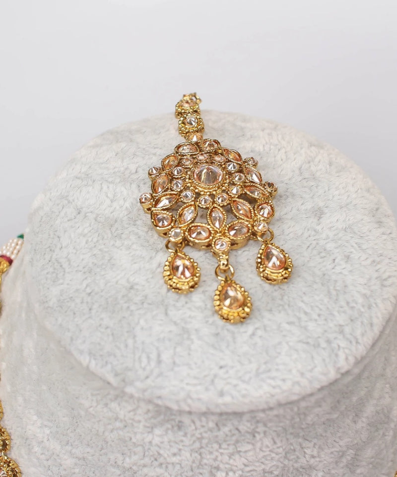 Pre order : Rekha Small Antique Bridal set