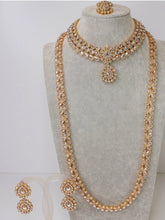 Load image into Gallery viewer, Simple Gold Bridal set