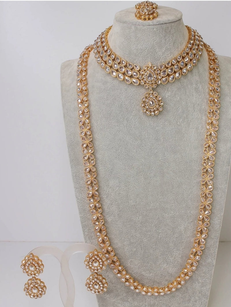 Simple Gold Bridal set